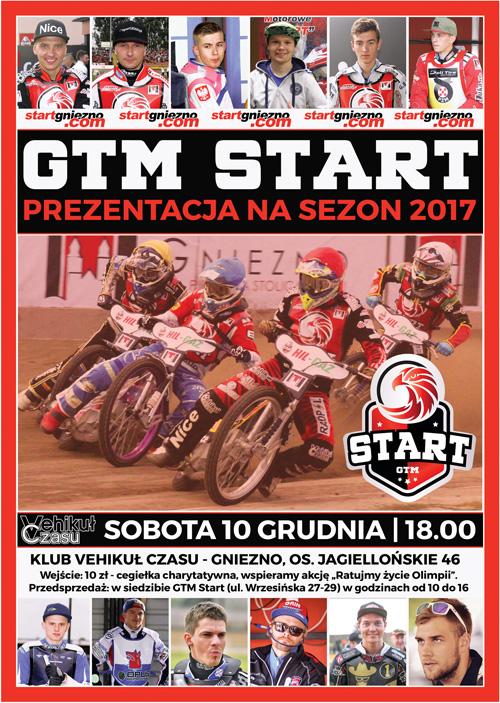 Prezentacja GTM Start w sobotę 10 grudnia o godzinie 18.00