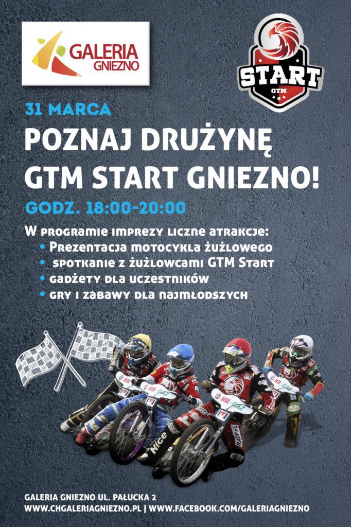 Plakat zapowiadający piątkowe wydarzenie w Galerii Gniezno
