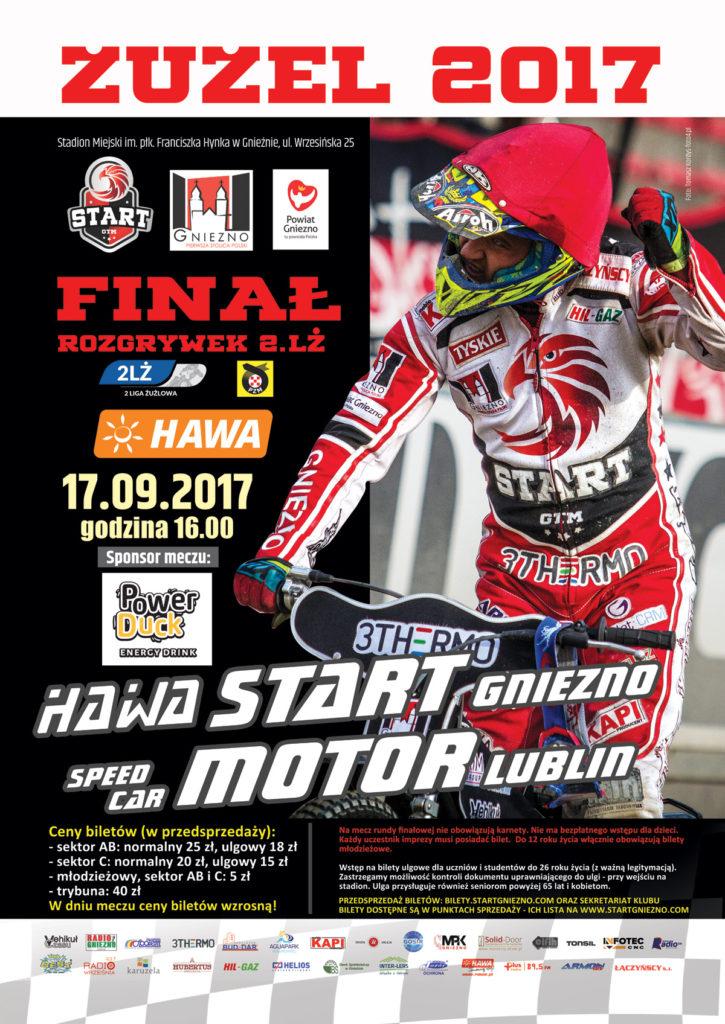 Plakat na mecz z Speed Car Motor Lublin
